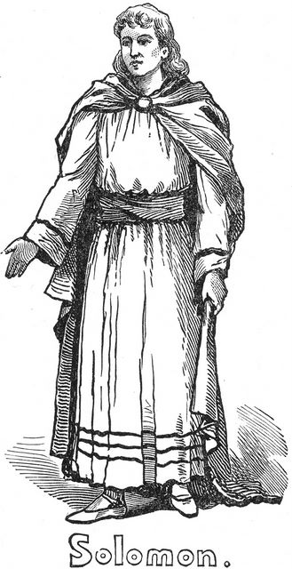 Artistic portrayal of King Solomon, who is an Old Testament type of the Antichrist.