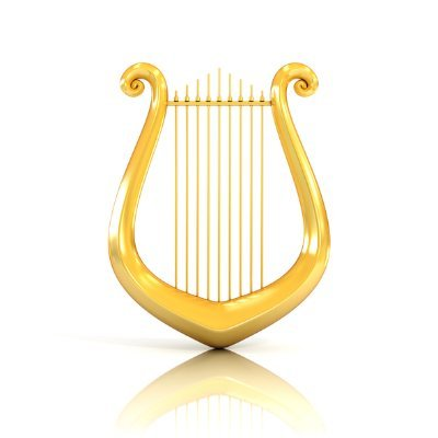 """Image of an ancient harp, like the one on which David composed and played his prophetic Psalms. Prophecy and music has been intertwined since the beginning, and this prophetic word for America is itself the fulfillment of the Davdic prophecy of Psalm 49:4, in which God through the sweet Psalmist of Israel promised that he would: """"open his dark saying upon the harp."""""""